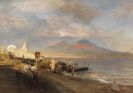 Oswald Achenbach - Die Bucht von Neapel mit Blick auf den Vesuv