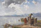 Joseph Wopfner - Fischer am Chiemseeufer