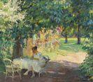 Edward Cucuel - Sommer im Garten der Künstlervilla am Starnberger See
