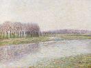 Paul Baum - Flusslandschaft mit Weiden