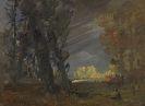 Wilhelm Busch - Waldrand mit sonnenbeschienener Baumgruppe