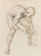 """Franz von Stuck - Männlicher Akt (Studie zu """"Adam und Eva"""")"""