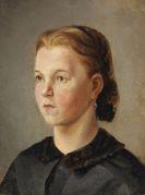 Leibl, Wilhelm - Mädchenbildnis (Therese Heyden)