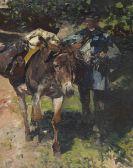 Heinrich von Zügel - Esel mit Treiber