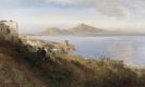 Oswald Achenbach - Malerin mit Blick auf Capri