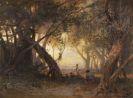 Arthur Calame - Sous les oliviers, le soir à San Remo