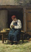 Vladimir Egorovitch Makovskij - Russische Bäuerin bei der Arbeit