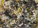 Bernard Schultze - Rhythmus weiss, gelb, schwarz