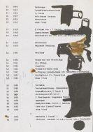 Joseph Beuys - Auflistung