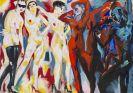 Fetting, Rainer - Gemeinschaftsarbeit mit Luciano Castelli (geb. 1951 Luzern). Bordell I (Diptychon)