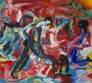 Rainer Fetting - Gemeinschaftsarbeit mit Luciano Castelli (geb. 1951 Luzern). Bordell III (Diptychon)