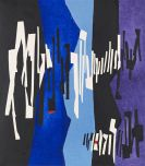Fritz Winter - Schwarz-Weiß-Blau
