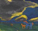 Emil Nolde - Landschaft mit Mutterpferd