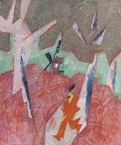 Lyonel Feininger - Der junge Mann aus dem Dorfe / Mill with Red Man