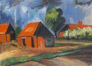 Hermann Max Pechstein - Rote Häuser
