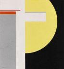 Walter Dexel - Gelbe Halbscheibe mit Weiß und Grau