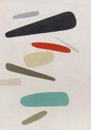 Willi Baumeister - Formen farbig (Fliegende Formen)