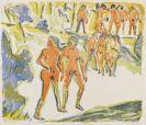 Ernst Ludwig Kirchner - Gruppen Badender (Sonntag in Moritzburg, Badender)