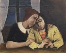 Karl Hofer - Zwei Mädchen am Tisch