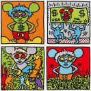 Keith Haring - Andy Mouse (4 Blatt)