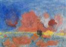 Emil Nolde - Meer mit roten Wolken und dunklen Seglern