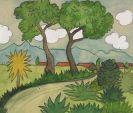 Hermann Hesse - Tessiner Landschaft mit Dorf