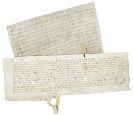 - 2 französische Urkunden auf Pergament, 13./14. Jh.