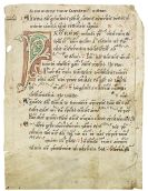 Manuskripte - Pergamentblatt mit Neumen, 12. Jahrhundert