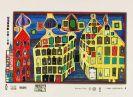 Friedensreich Hundertwasser - Mit der Liebe warten tut weh - Blatt 3 aus Regentag