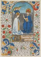 Manuskripte - 1 Bl. Miniatur auf Pergament