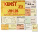Walter Dexel - 14 Drucksachen und Postkarten für den Kunstverein Jena