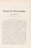 Gregor Mendel - Versuche über Pflanzen-Hybriden
