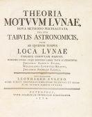 Leonhard Euler - Theoria motuum lunae
