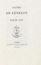 François Fénelon - Lettre de Fénelon a Louis XIV