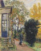 Slevogt, Max - Gärtner vor dem Haus