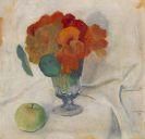 August Macke - Kapuzinerkresse und Apfel