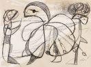 Joan Miró - Personnages, oiseau