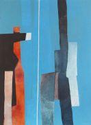 Fritz Winter - Weiß zwischen Rot und Blau