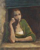 Karl Hofer - Mädchen am Fenster