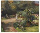 Max Liebermann - Garten mit Palme und zwei weiblichen Figuren