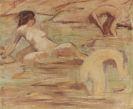 Otto Mueller - Drei badende Mädchen